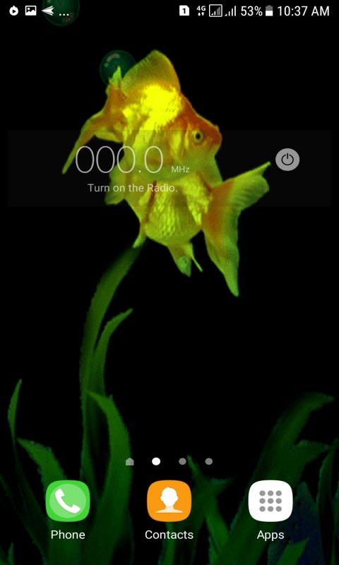 Golden Fishes Live Wallpaper