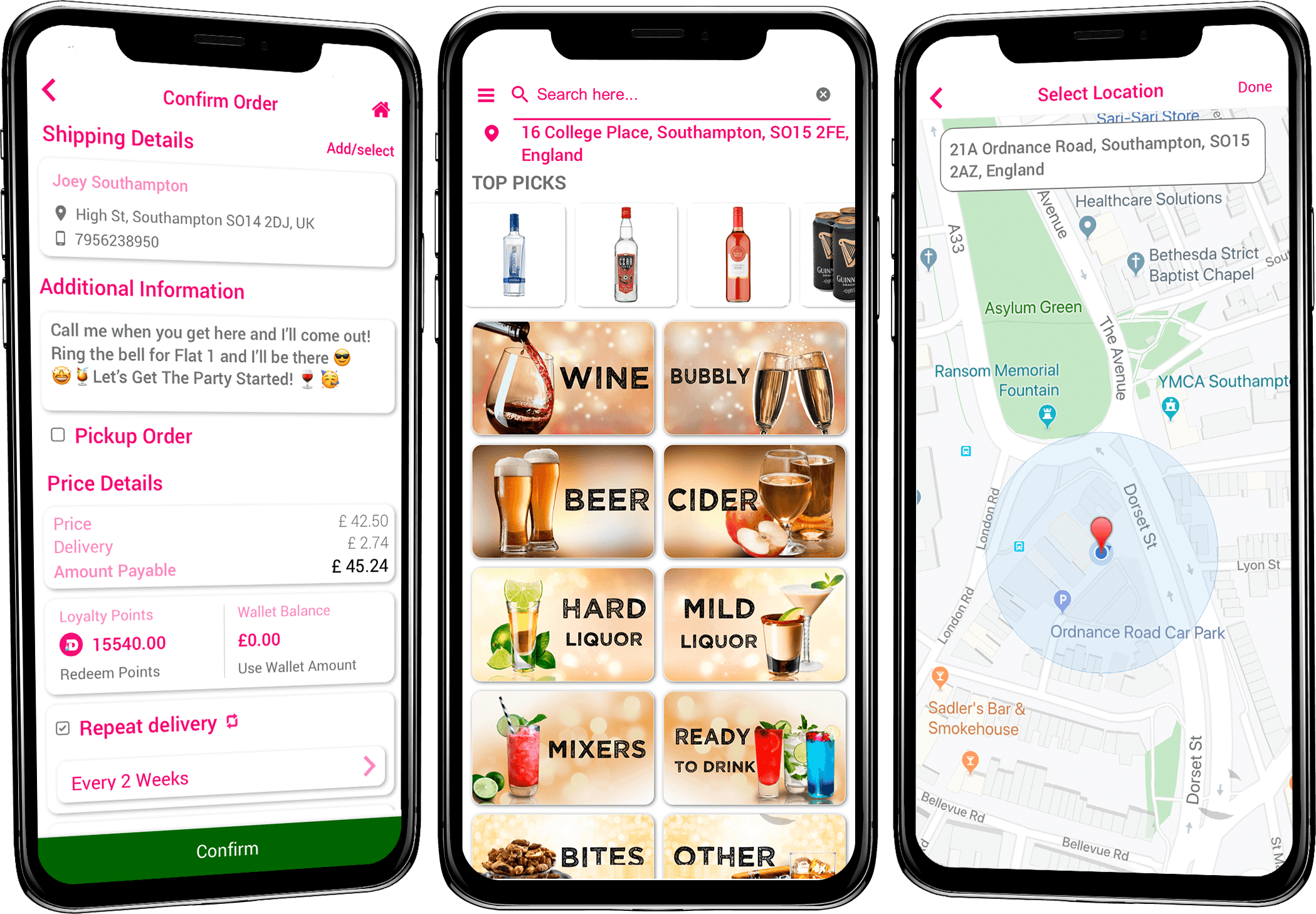 Drinxin: Food & Drink Delivery