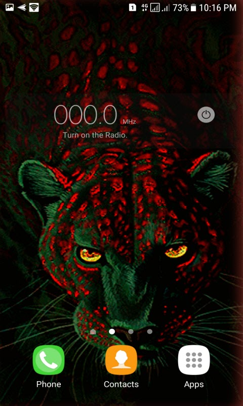 Green Leopard Live Wallpaper