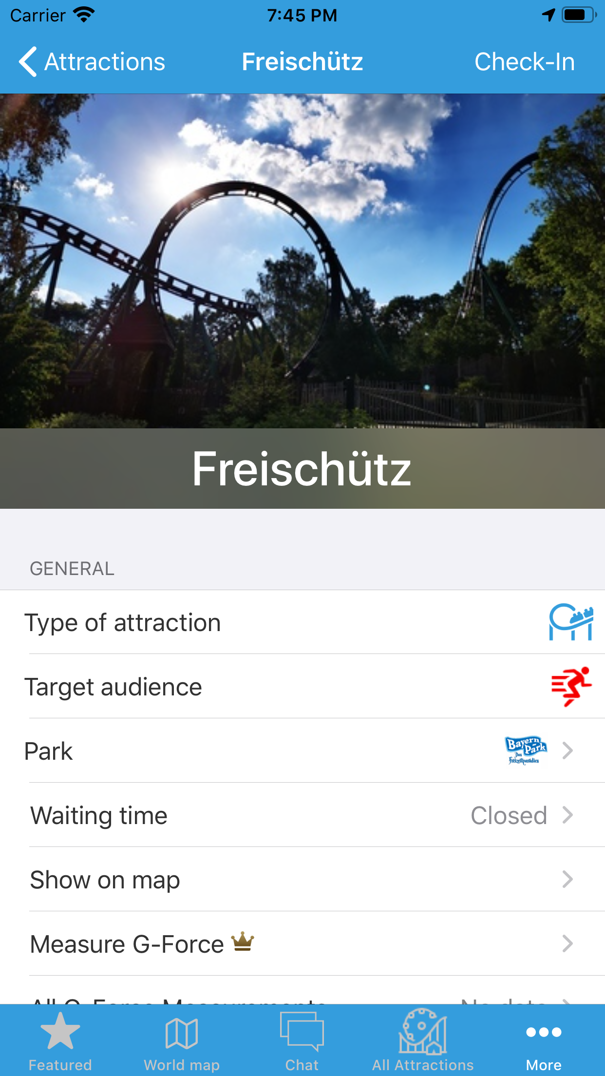 Amusement park app
