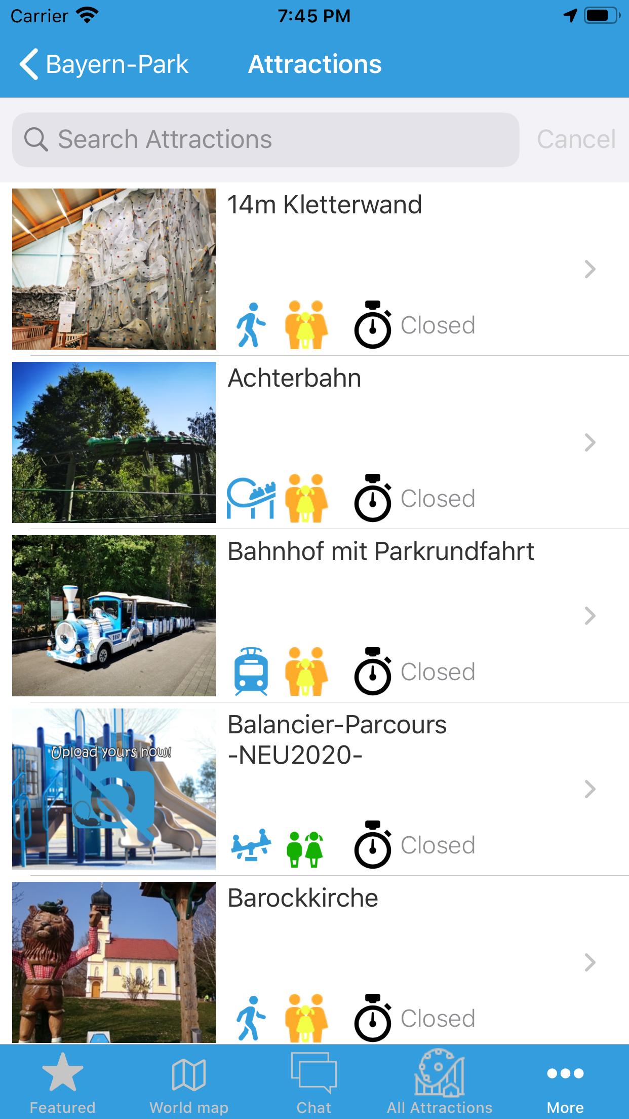 Amusement park app