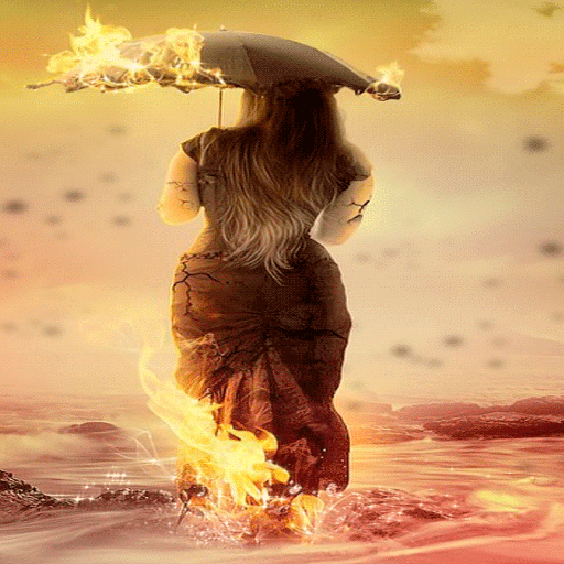Fiery Ocean Girl LWP