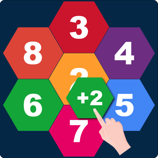Hexagons: Drag and Merge Numbers