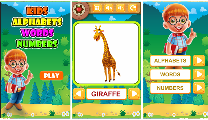 Kids Alphabets Words Numbers