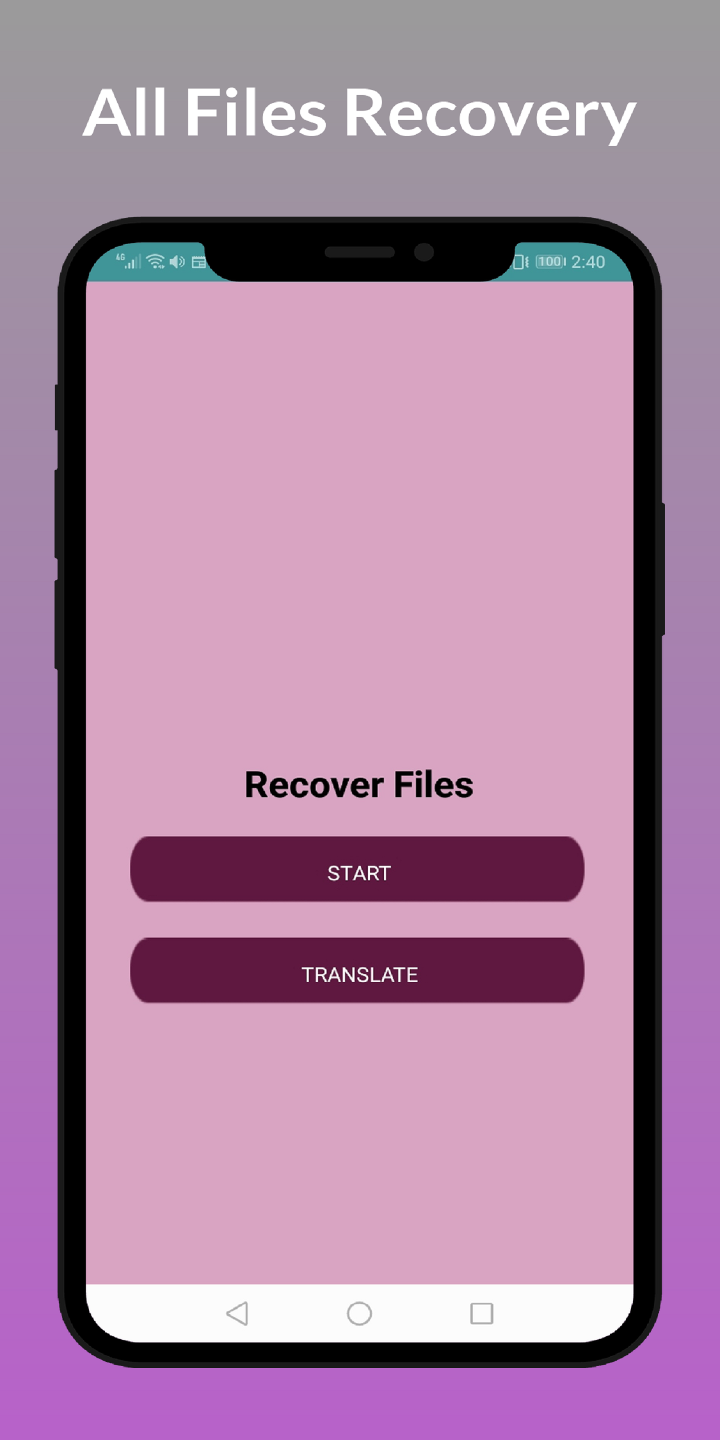Recover all deleted files - Video, Audio Images