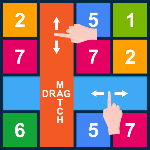 Rows and Columns: Drag n Match Numbers
