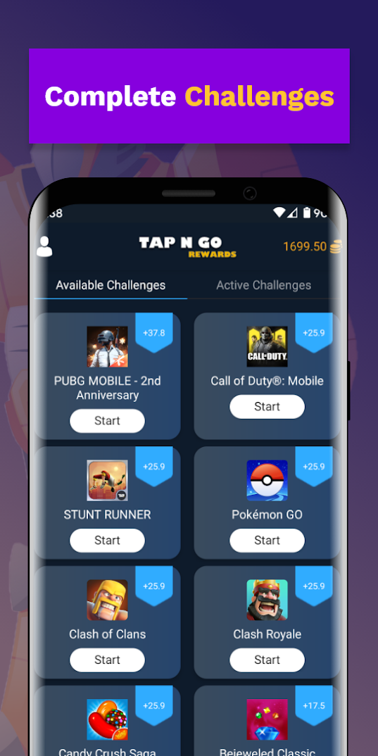 Tap N Go Rewards : Earn Playing Games