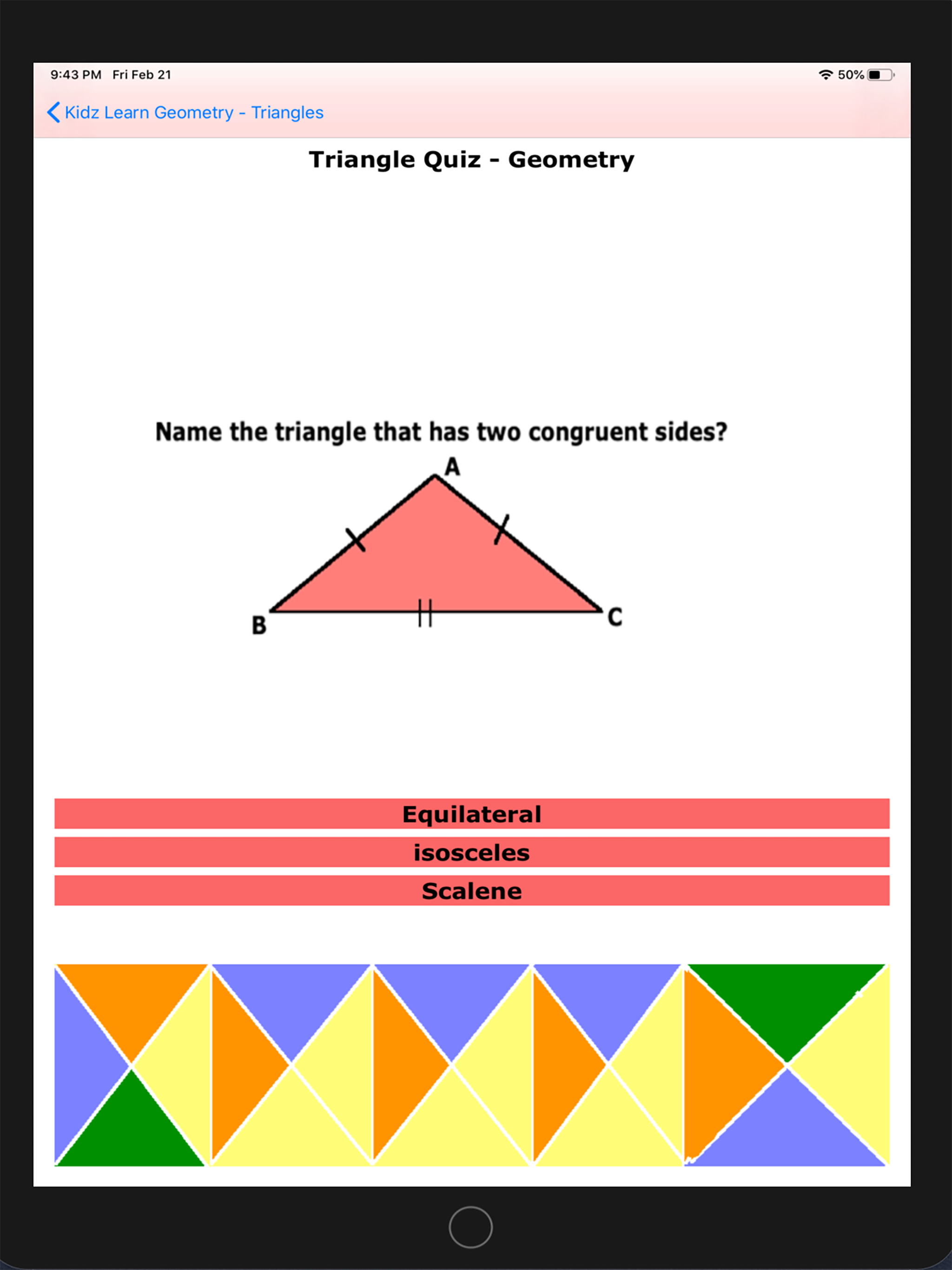 Triangles in Geometry