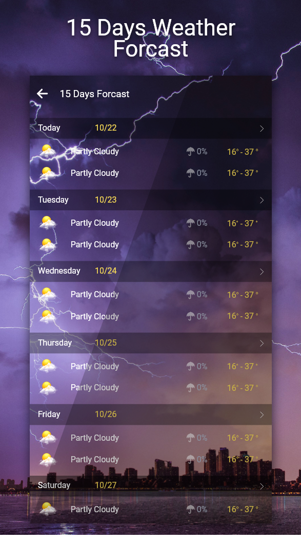 Advanced Weather Forecast: Live Weather & Widgets