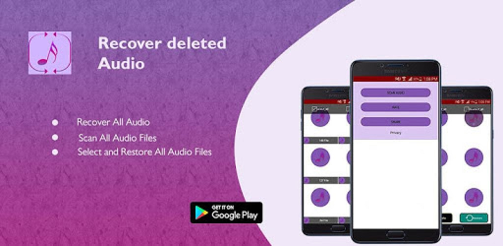 Recover deleted audio call recordings