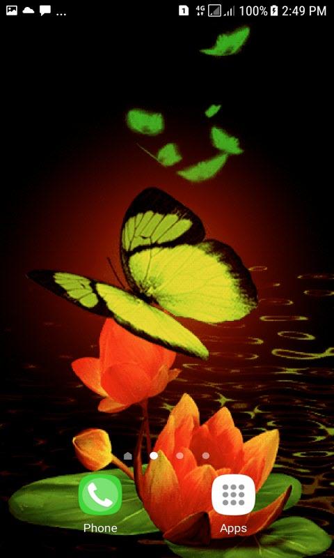 Green Butterflies Live Wallpaper