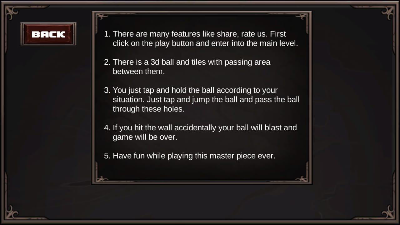 Jumping 3d Ball Game