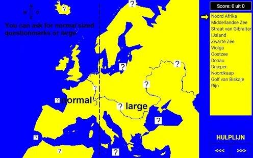 ATLAS9 Topography trainer / World map quiz