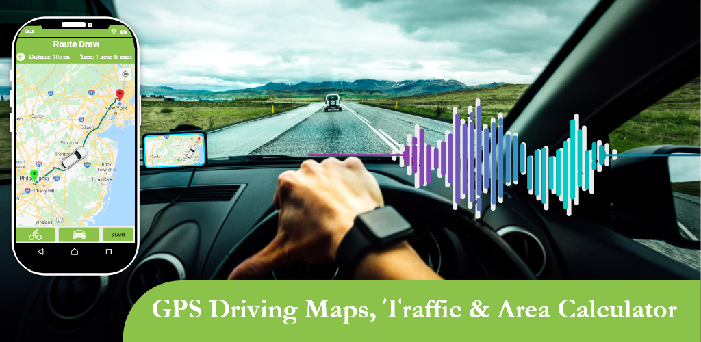 GPS Driving Maps, traffic & Area Calculator