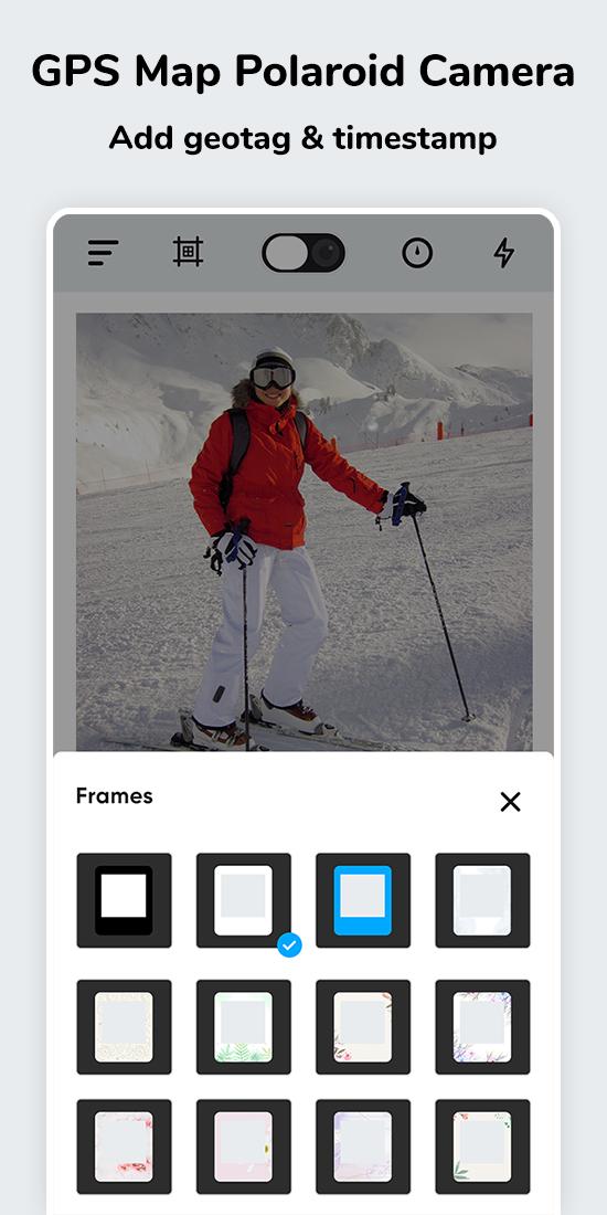 GPS Map Polaroid camera: Add geotag & timestamp