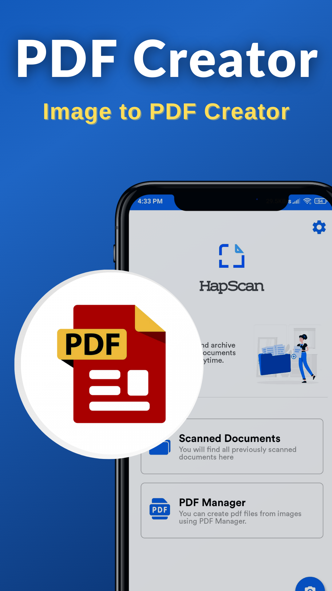 HapScan - Indian Document Scanner, PDF Creator