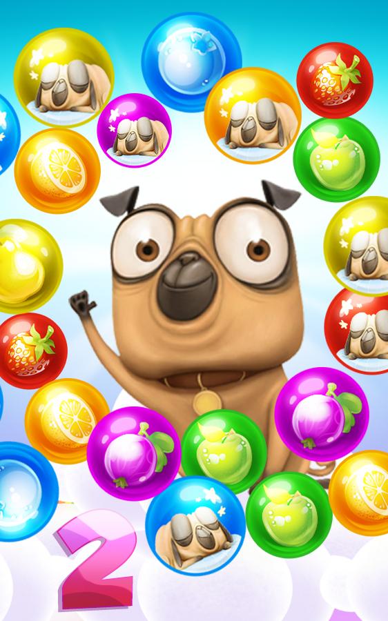 Pug Pop Bubble Shooter 2: Adventure Rescue Bulldog