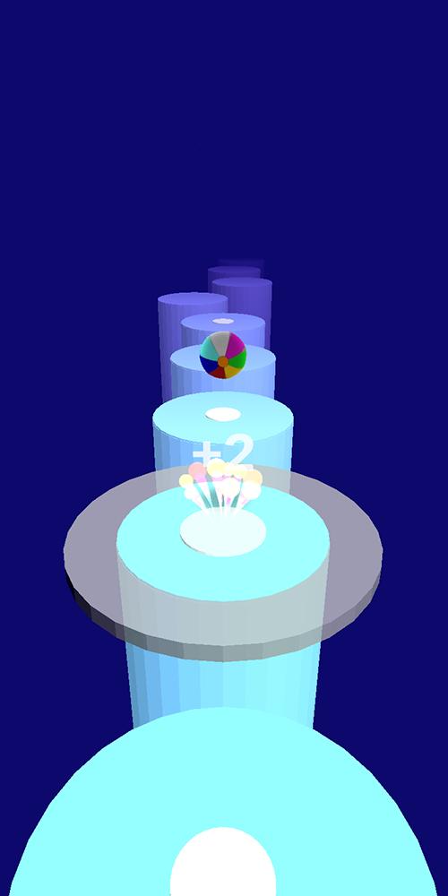 Splashy Tiles : color Jump Roll