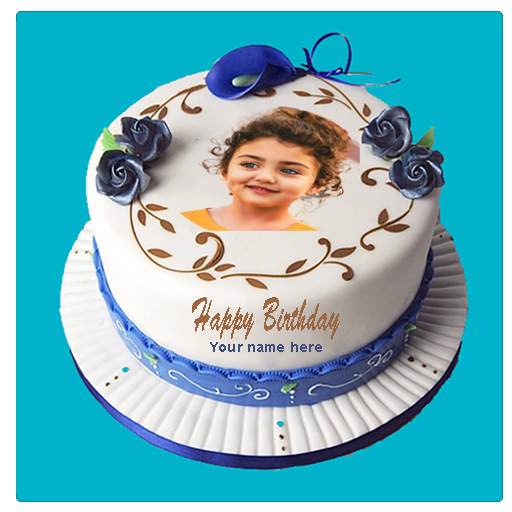 Birthday Cake with Name and Photo on Cake