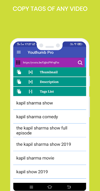 Youthumb Pro - Download Thumbnail ,Copy Tags & etc