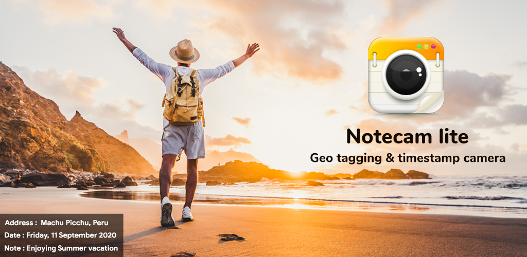 Note cam lite with Geo tagging & timestamp camera