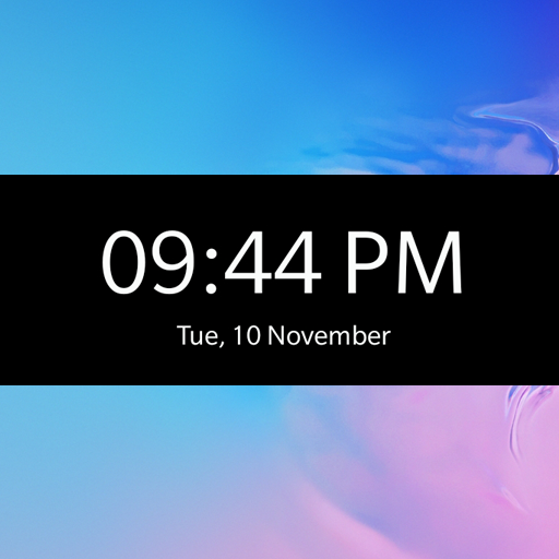 Z Clock Widget - Galaxy s20, Galaxy S Series