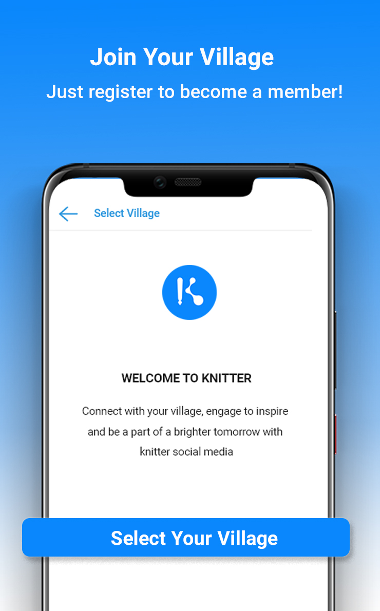 Knitter : Social Networking App for Rural India