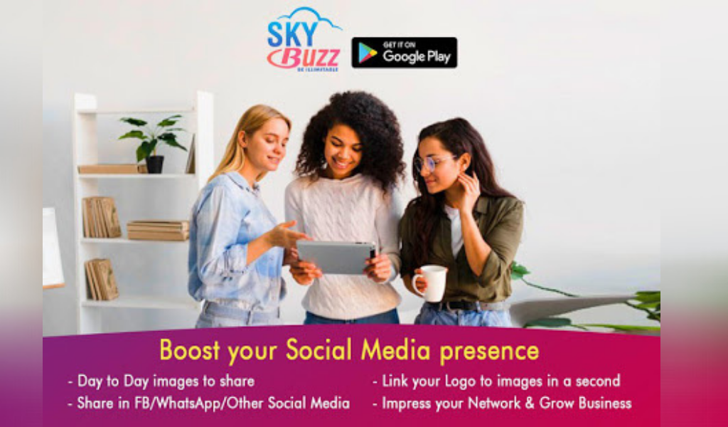 SkyBuzz – Add Logo, Free Motivational Image/Videos