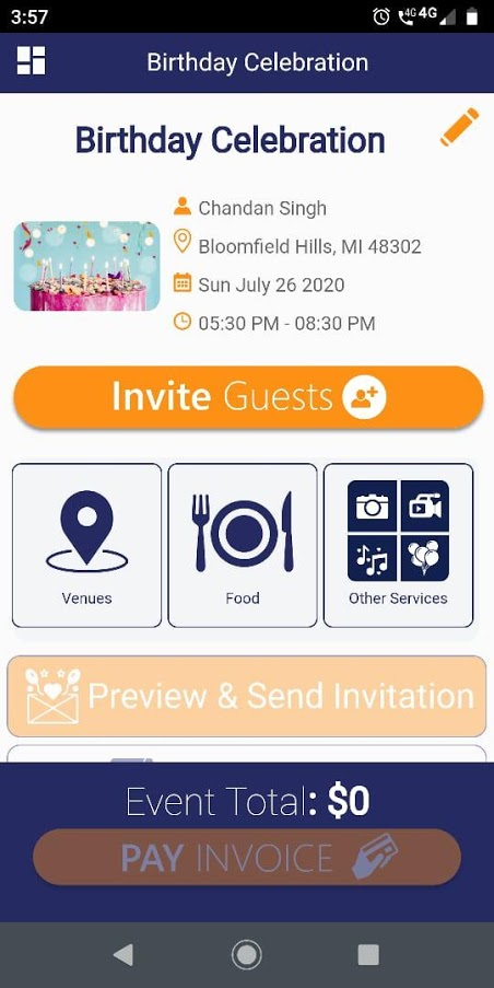 WeInvite - Event Management & Party Planner