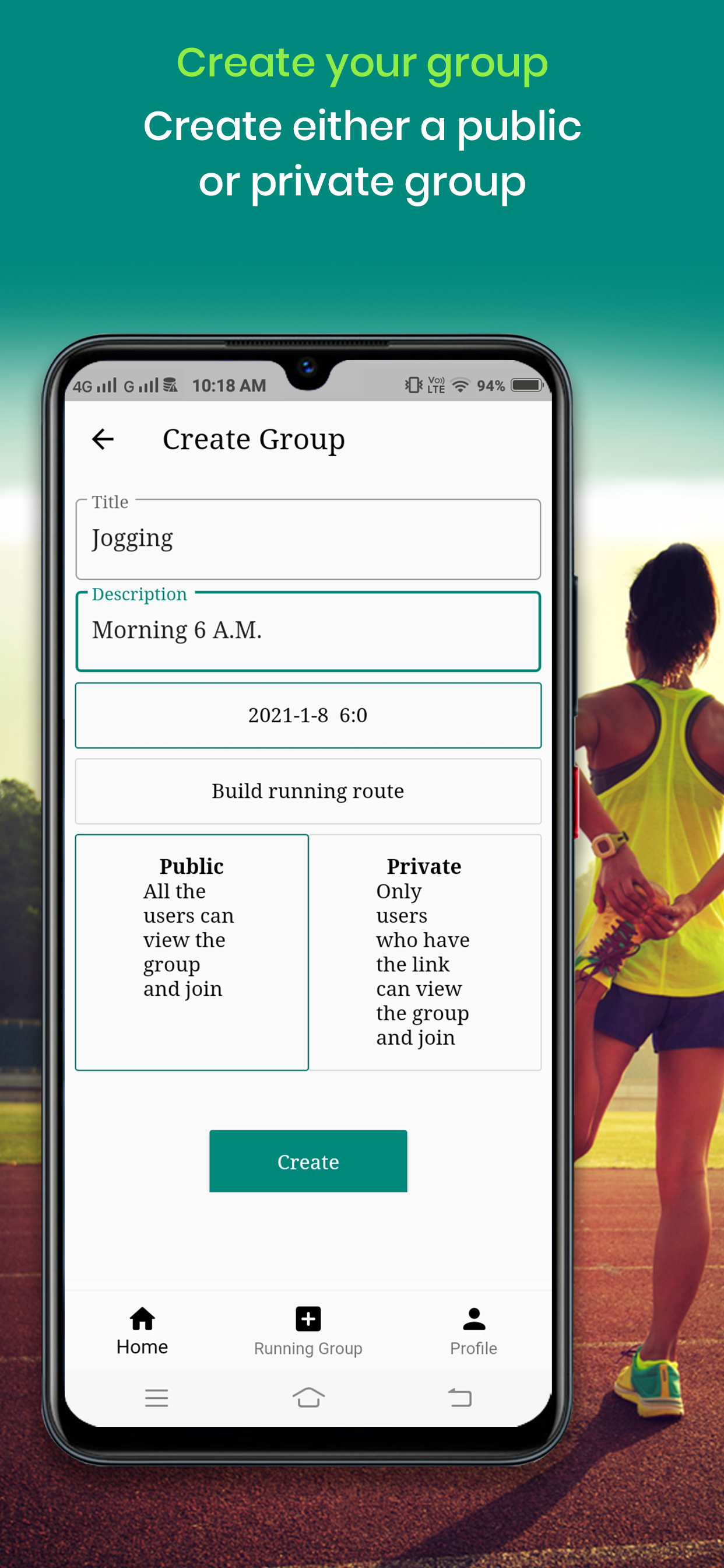 WeRun - Join Running Group & Run Daily