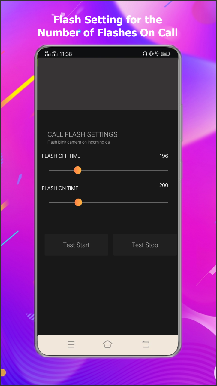 Flash on call and SMS, Flash alert notification