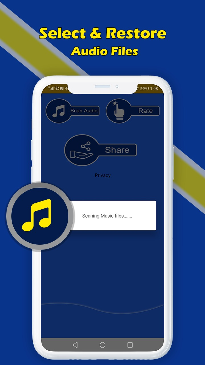 Music recovery app
