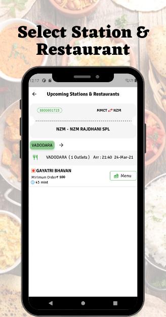 RailRecipe - Food Delivery in Train