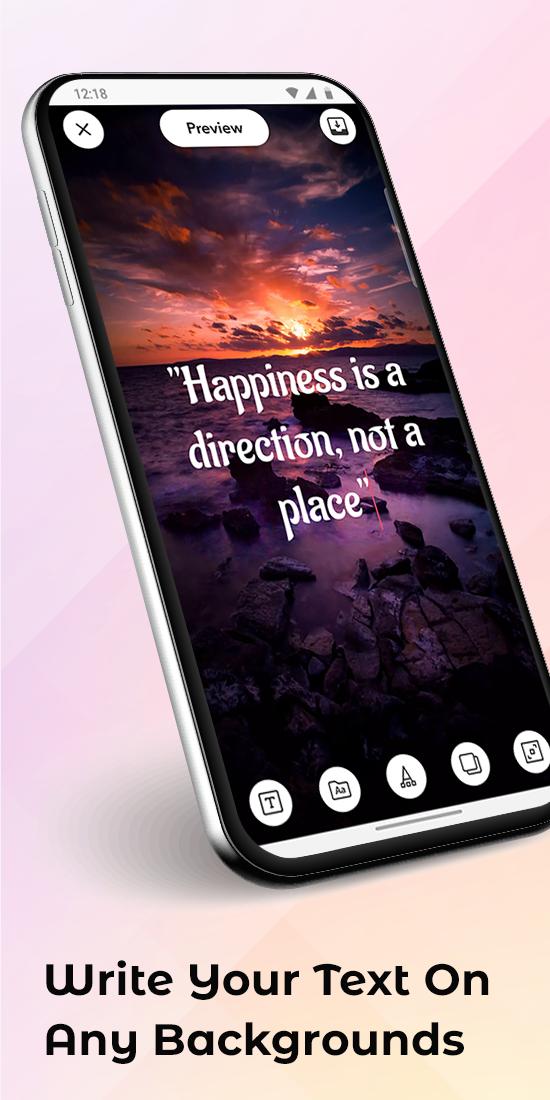 Wallext: Make Text Background Customized wallpaper
