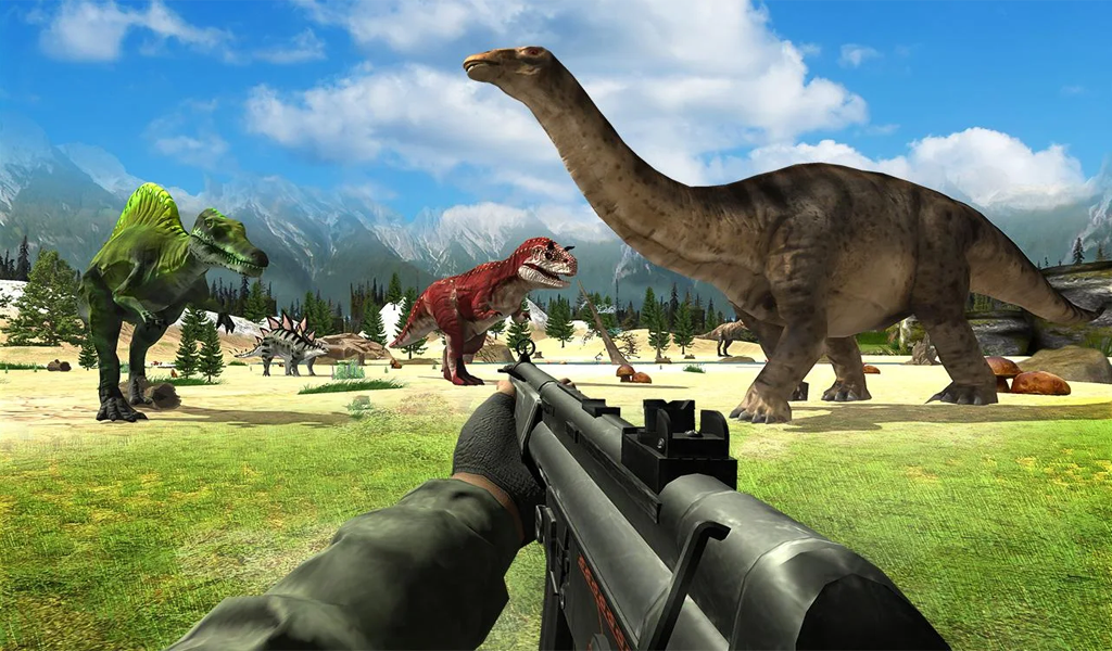 Dinosaur Hunter Sniper Jungle Animal Shooting Game