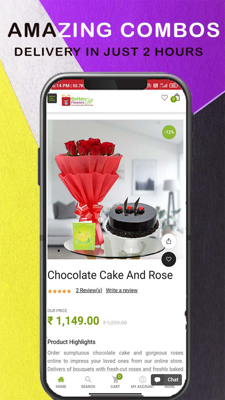 BGF : Better Gift Flowers - Flowers, Cake N Gift Delivery
