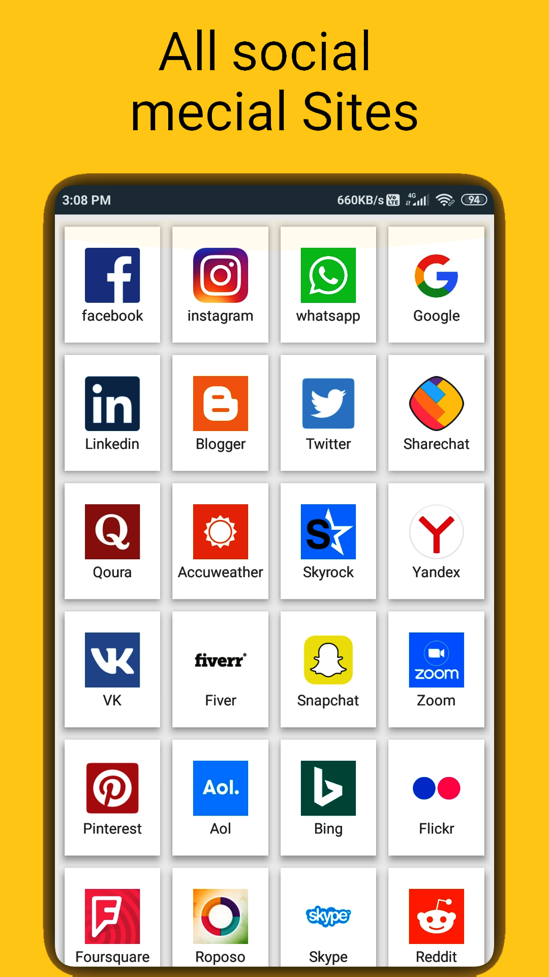 All in one social Media & social networking