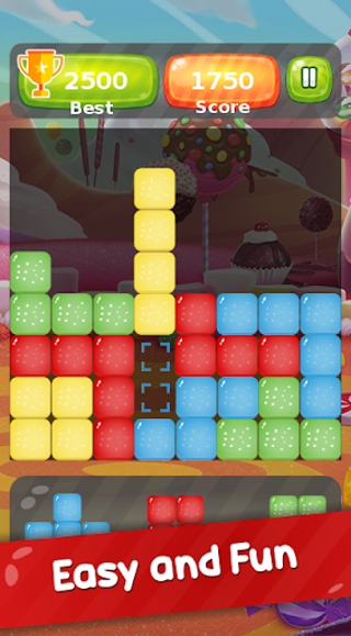 Block Puzzle : The Cool Crazy Candy Blitz Fun Game