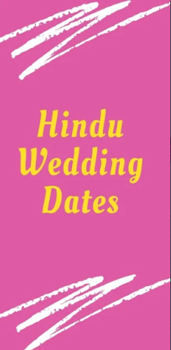 Hindu Wedding Calender