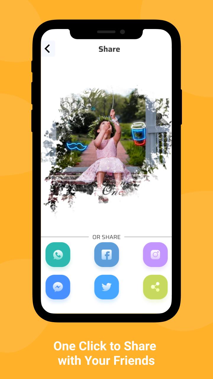 Pics-neon, blur, filter, background, selfie editor