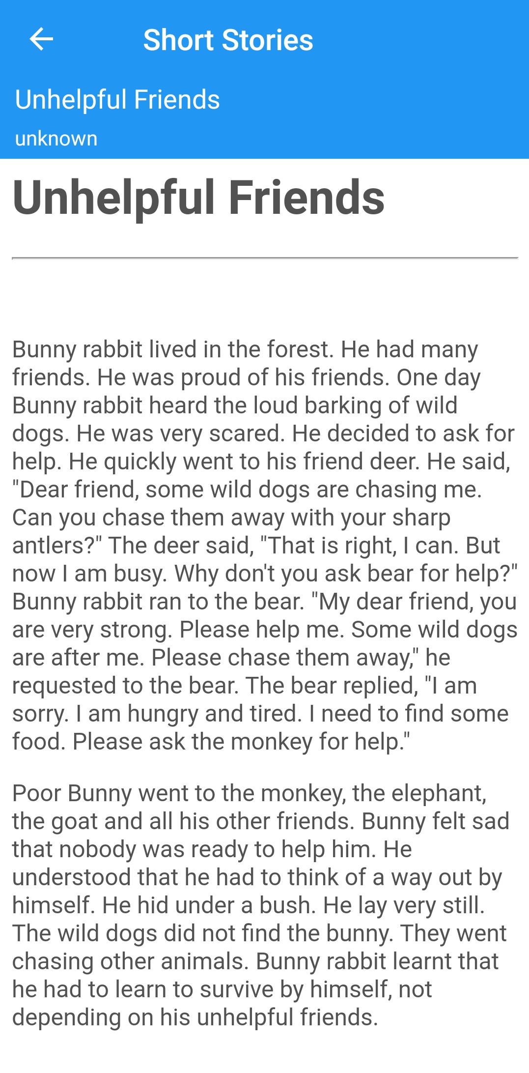 Short BedTime English Stories