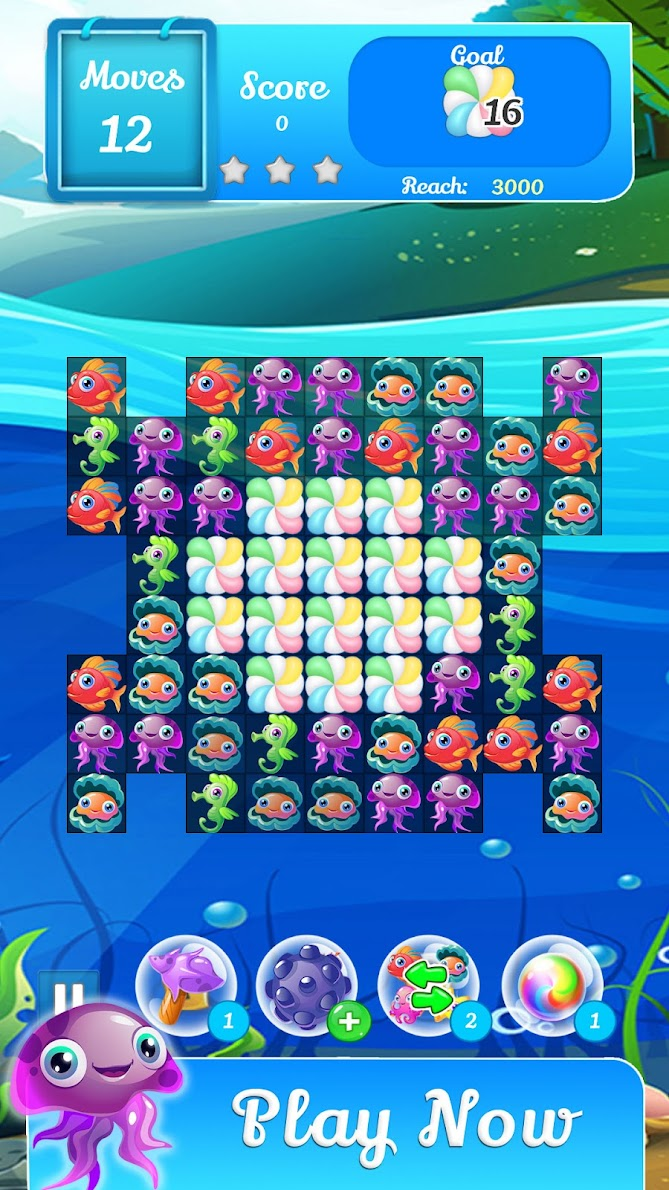Fish Aquarium – Fish Games New Match 3 Games 2021