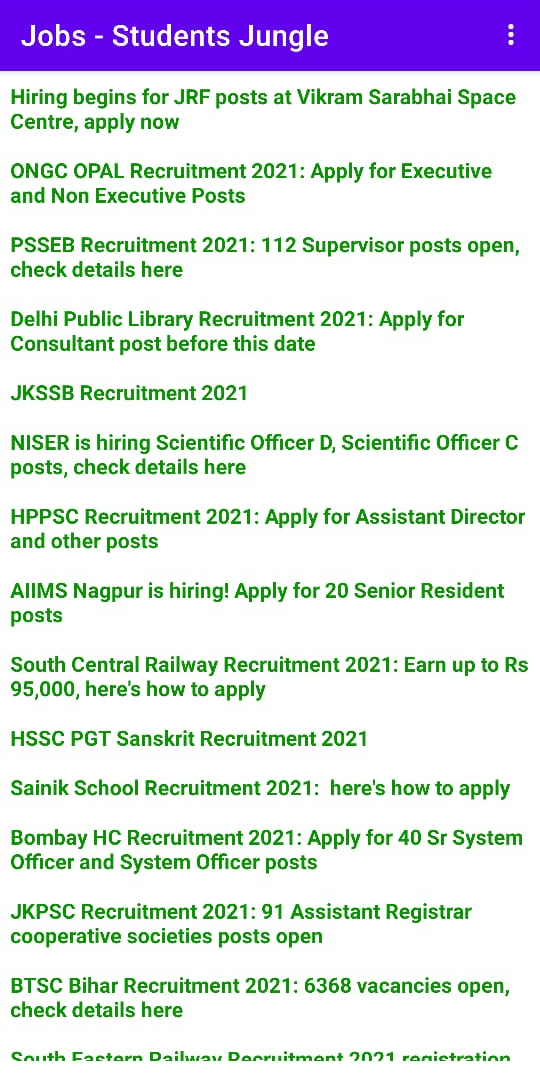 Jobs in Colleges and Schools