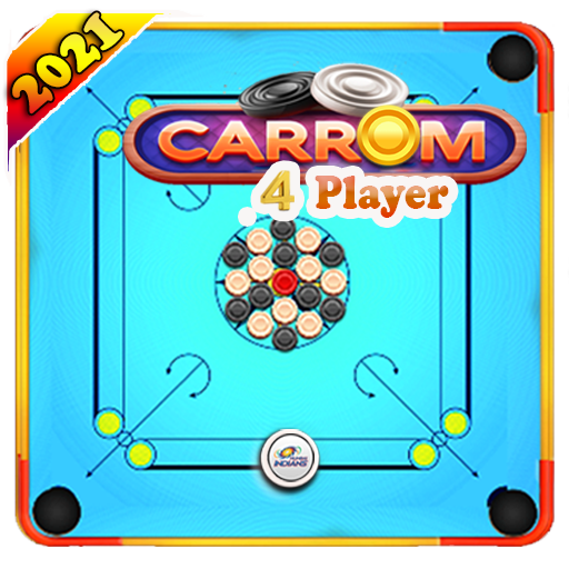 Carrom Board - 4 Player, With friends , Offline