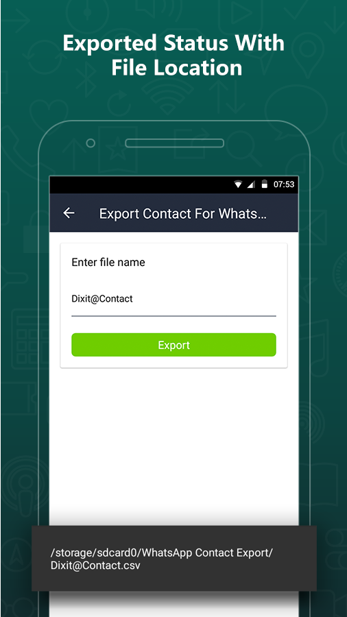 Export Contacts For WhatsApp