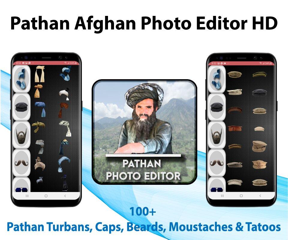 Pathan afghan photo editor HD : Turban style 2021