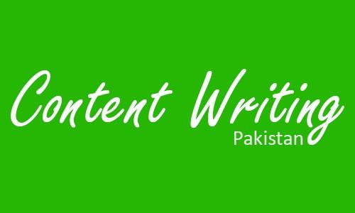 Content Writing Pakistan