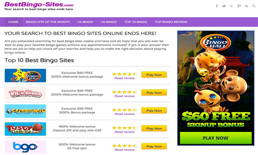 Best Bingo Sites Online: Top Online Bingo Sites USA & UK
