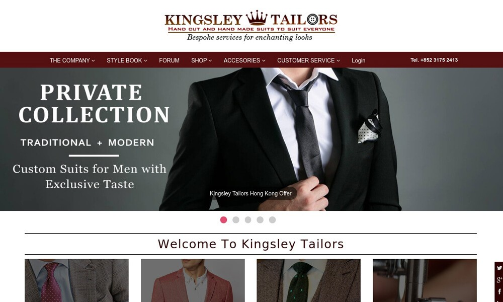 Kingsley Tailors Hong Kong