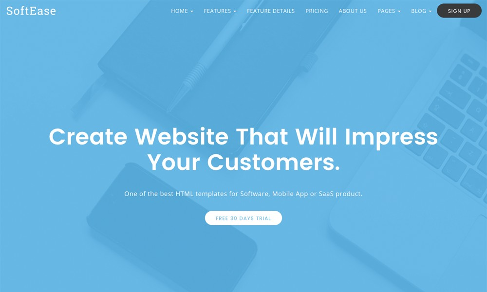 SoftEase - Multipurpose Software / SaaS Product Template